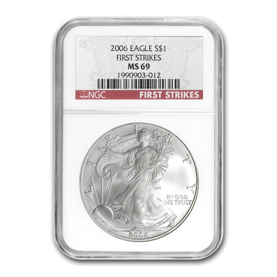 2006 American Silver Eagle MS-69 NGC (FS)