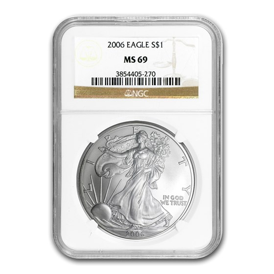 2006 American Silver Eagle MS-69 NGC