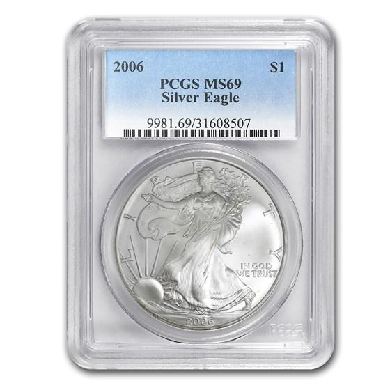 2006 American Silver Eagle MS-69 PCGS