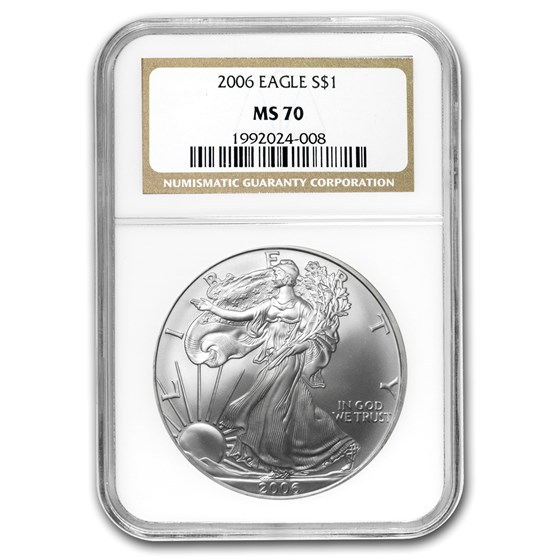 2006 American Silver Eagle MS-70 NGC