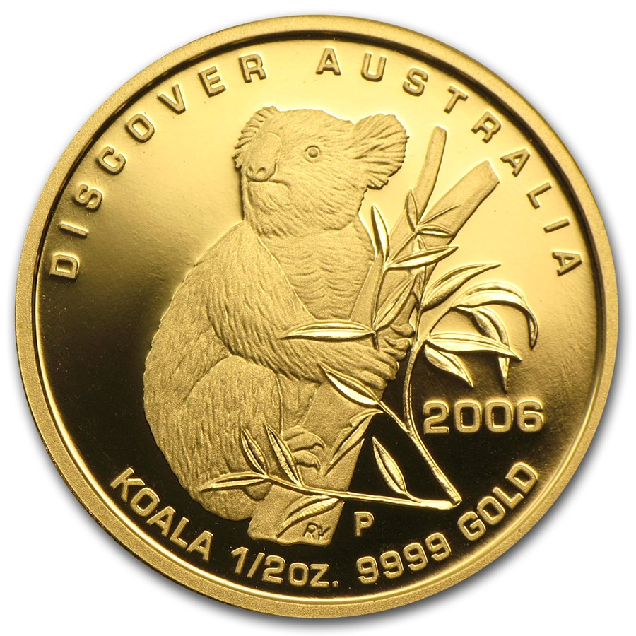 2006 Australia 1/2 oz Gold Koala Proof (In Capsule)