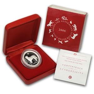 2006 Australia 1/2 oz Silver Year of the Dog Proof (w/Box & COA)