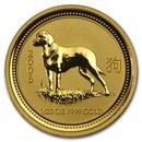 2006 Australia 1/20 oz Gold Lunar Dog BU (Series I)