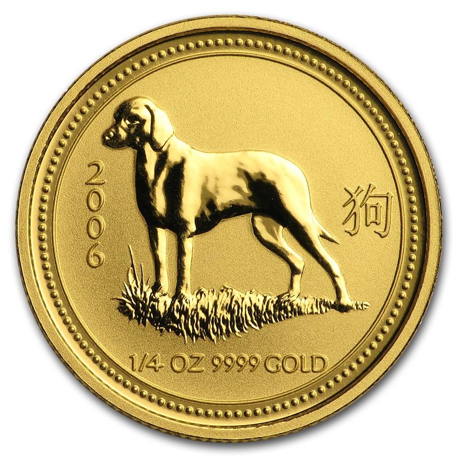 2006 Australia 1/4 oz Gold Lunar Dog BU (Series I)