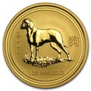 2006 Australia 1 oz Gold Lunar Dog BU (Series I)