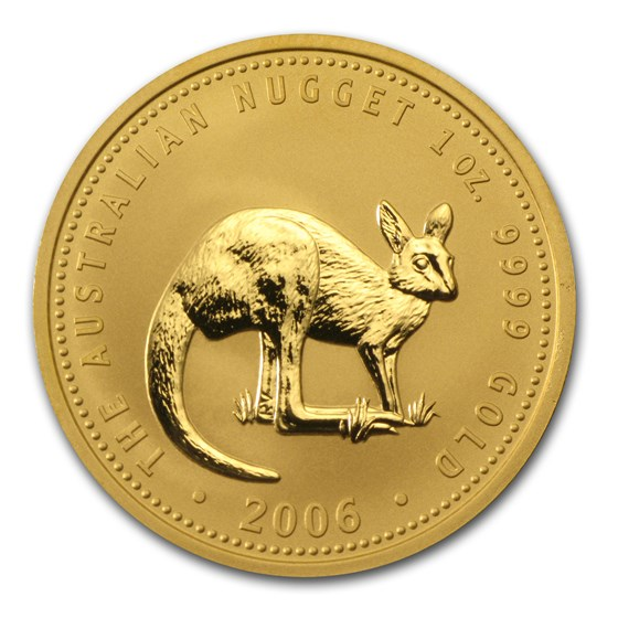 2006 Australia 1 oz Gold Nugget BU