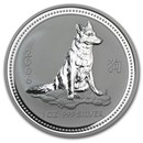 2006 Australia 1 oz Silver Year of the Dog BU (Series I)