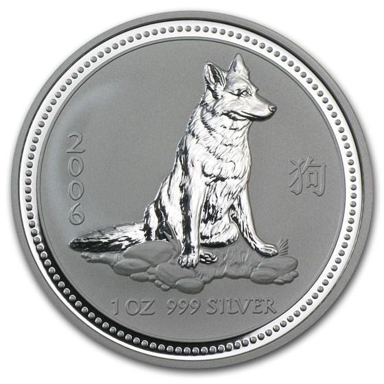 2006 Australia 1 oz Silver Year of the Dog BU (Series I)