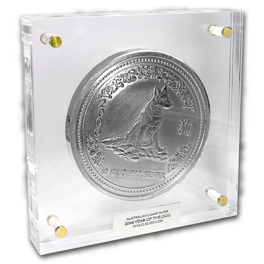 2006 Australia 10 kilo Silver Year of the Dog BU (321.5 oz)