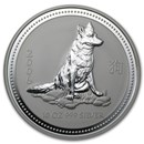 2006 Australia 10 oz Silver Year of the Dog BU