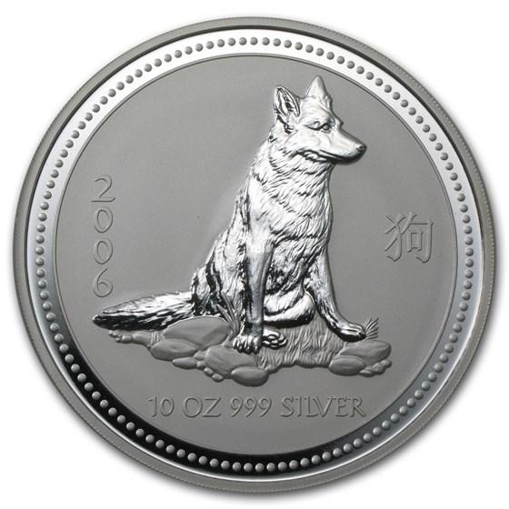 2006 Australia 10 oz Silver Year of the Dog BU