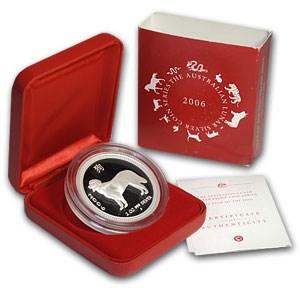 2006 Australia 2 oz Silver Year of the Dog Proof (w/Box & COA)