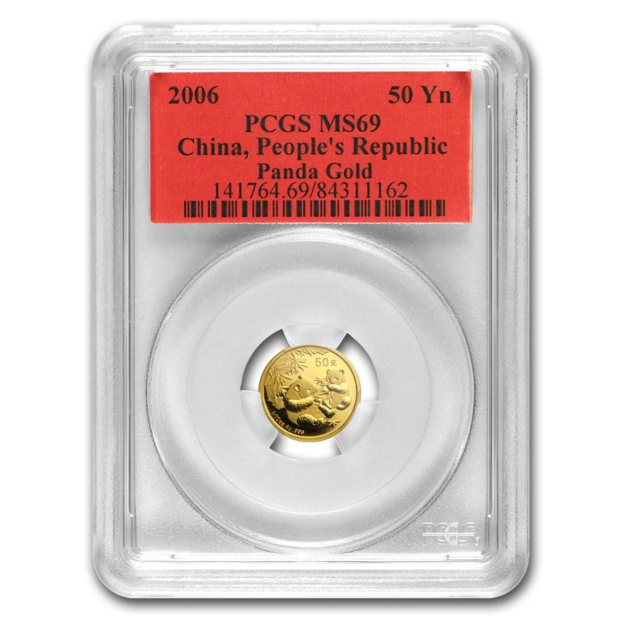 2006 China 1/10 oz Gold Panda MS-69 PCGS