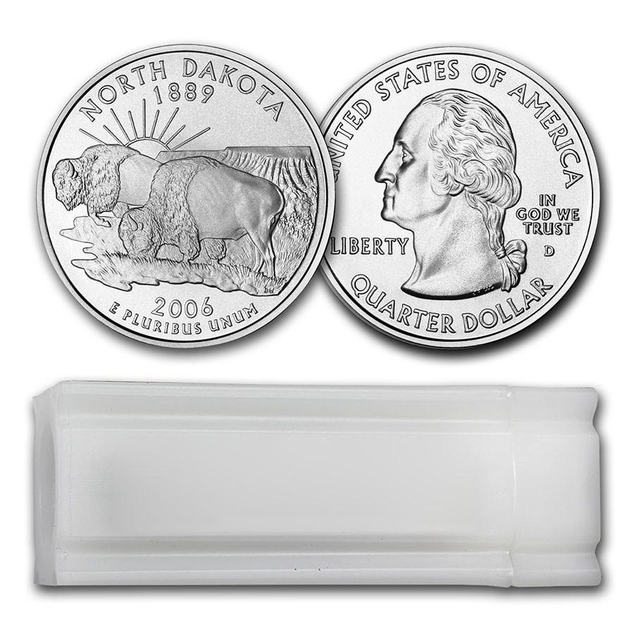 2006-D North Dakota Statehood Quarter 40-Coin Roll BU