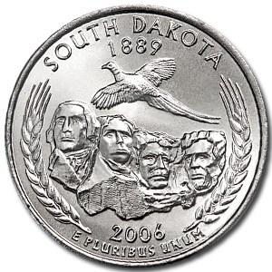 2006-D South Dakota State Quarter BU