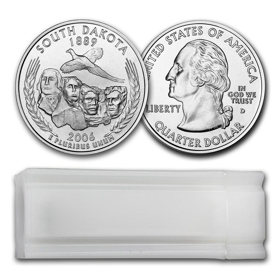 2006-D South Dakota Statehood Quarter 40-Coin Roll BU