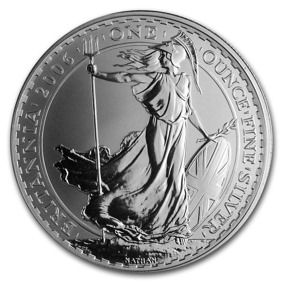 2006 Great Britain 1 oz Silver Britannia BU