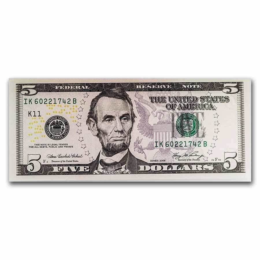 2006 (K-Dallas) $5 FRN CCU (Fr#TBD)