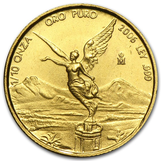 2006 Mexico 1/10 oz Gold Libertad BU