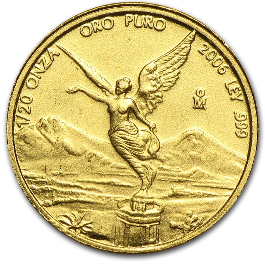 2006 Mexico 1/20 oz Gold Libertad BU