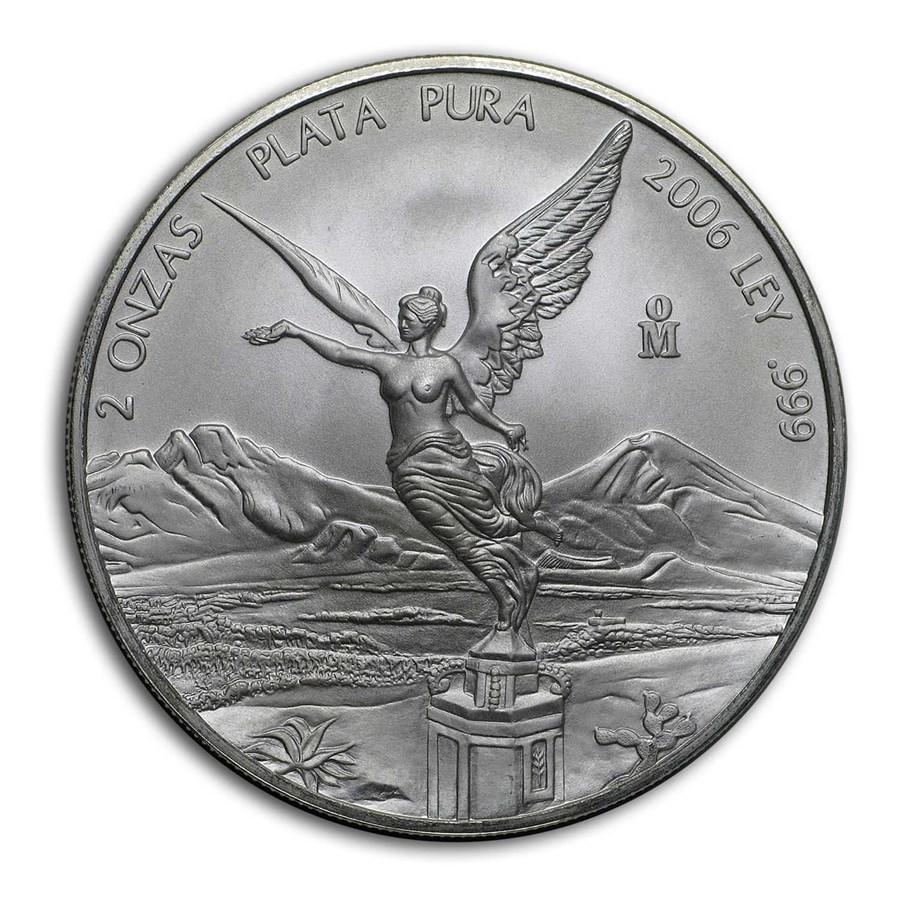 2006 Mexico 2 oz Silver Libertad BU