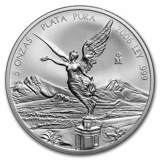 2006 Mexico 5 oz Silver Libertad BU