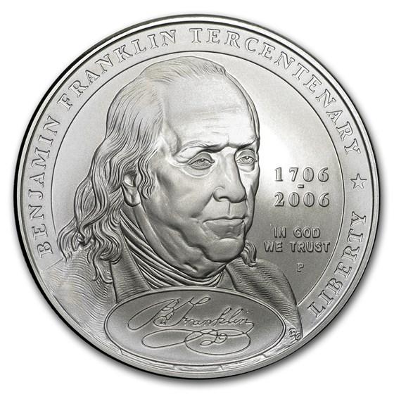 2006-P Ben Franklin Founding Father $1 Silver Commem BU (Box/COA)