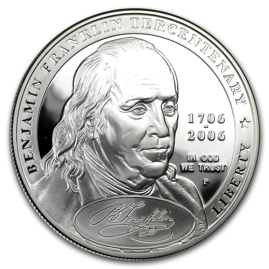 2006-P Ben Franklin Founding Father $1 Silver Commem Prf (w/Box)