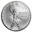 2006-P Ben Franklin Scientist $1 Silver Commem BU (w/Box & COA)
