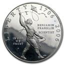 2006-P Ben Franklin Scientist $1 Silver Commem Prf (Capsule only)