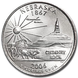2006-P Nebraska State Quarter BU