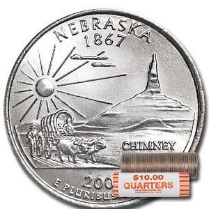 2006-P Nebraska Statehood Quarter 40-Coin Roll BU