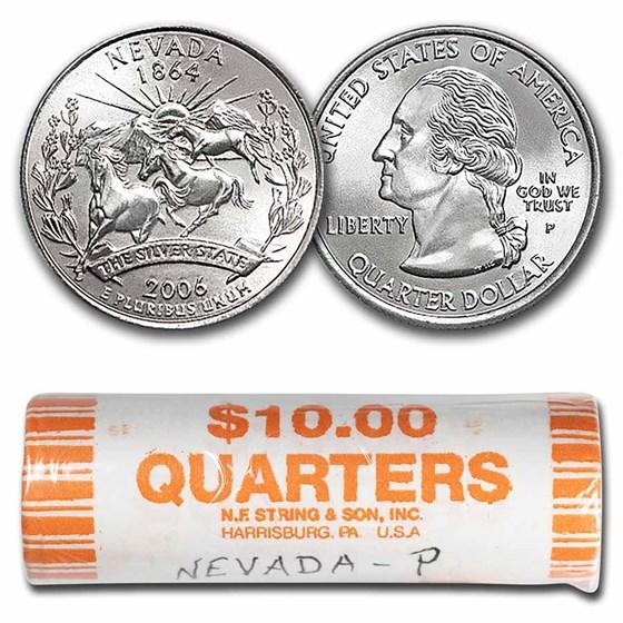 2006-P Nevada Statehood Quarter 40-Coin Roll BU