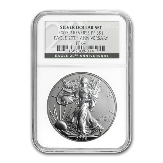 2006-P Reverse Proof Silver Eagle PF-69 NGC (Black Label)