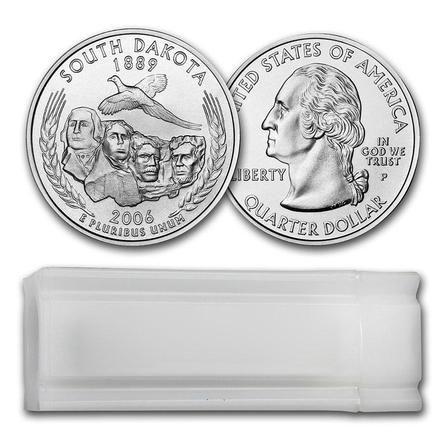 2006-P South Dakota Statehood Quarter 40-Coin Roll BU