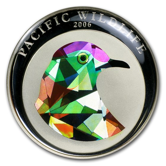 2006 Palau Proof Silver $5 Pacific Wildlife Superb Fruit Dove