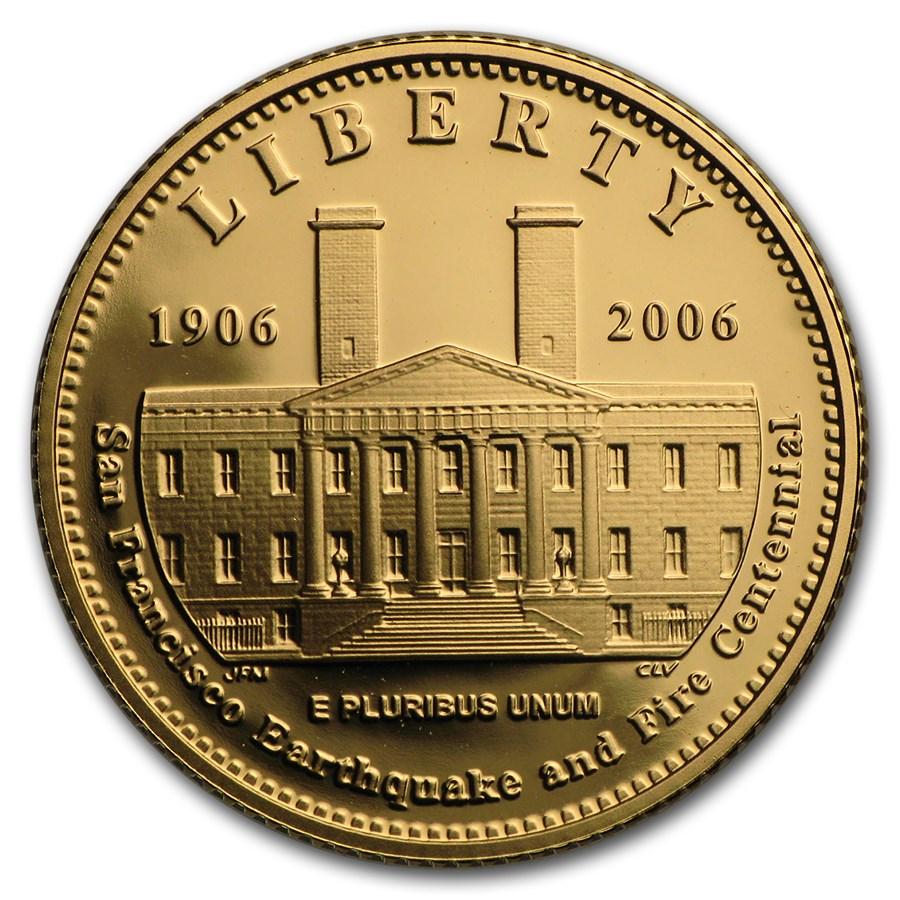 2006-S Gold $5 Commem San Francisco Old Mint Proof (w/Box & COA)