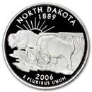 2006-S North Dakota State Quarter Gem Proof (Silver)