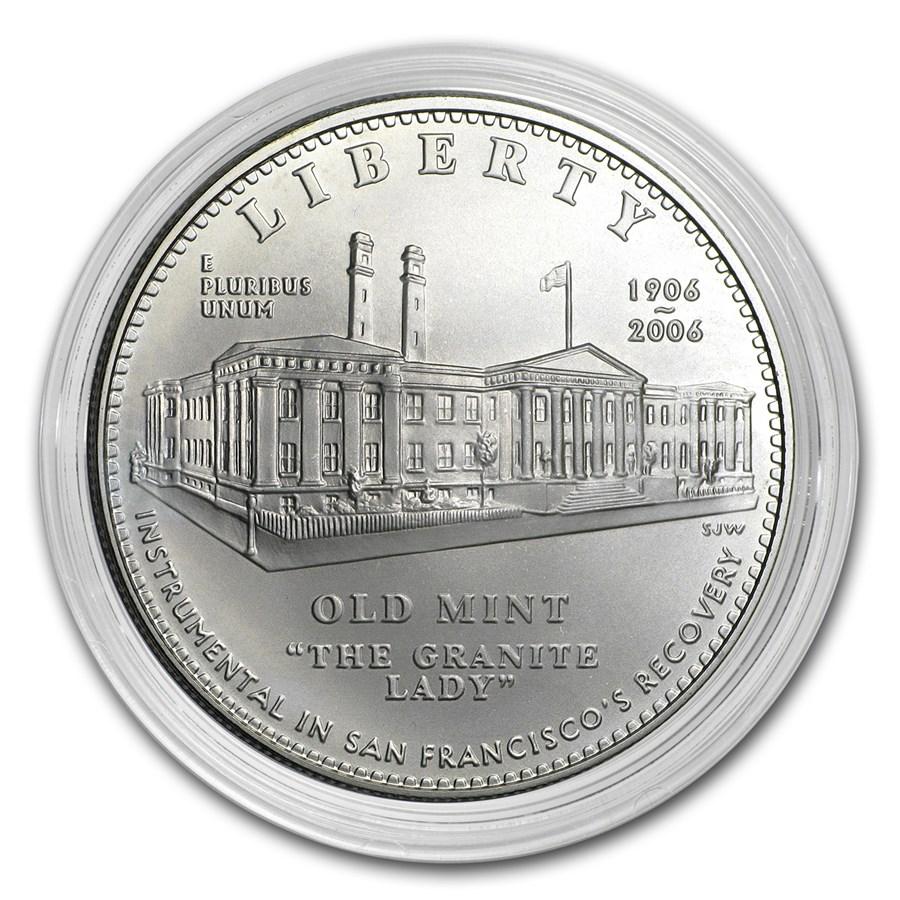 2006-S San Francisco Old Mint $1 Silver Commem BU (Capsule only)