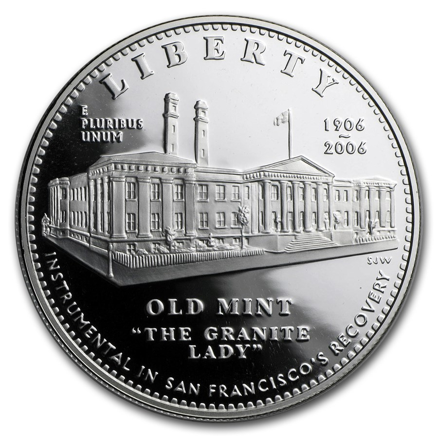 2006-S San Francisco Old Mint $1 Silver Commem Prf (w/Box & COA)