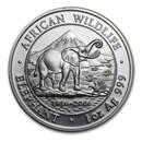 2006 Somalia 1 oz Silver Elephant BU