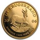 2006 South Africa 1/4 oz Proof Gold Krugerrand