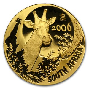 2006 South Africa 1 oz Proof Gold Natura Giraffe