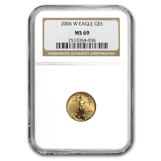 2006-W 1/10 oz Burnished American Gold Eagle MS-69 NGC