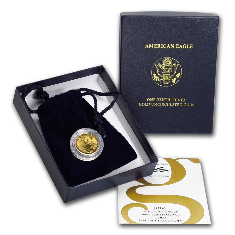 2006-W 1/10 oz Burnished American Gold Eagle (w/Box & COA)
