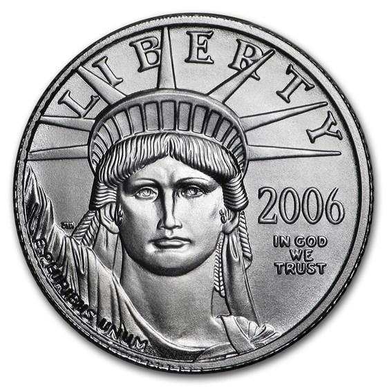 2006-W 1/10 oz Burnished American Platinum Eagle (w/Box & COA)