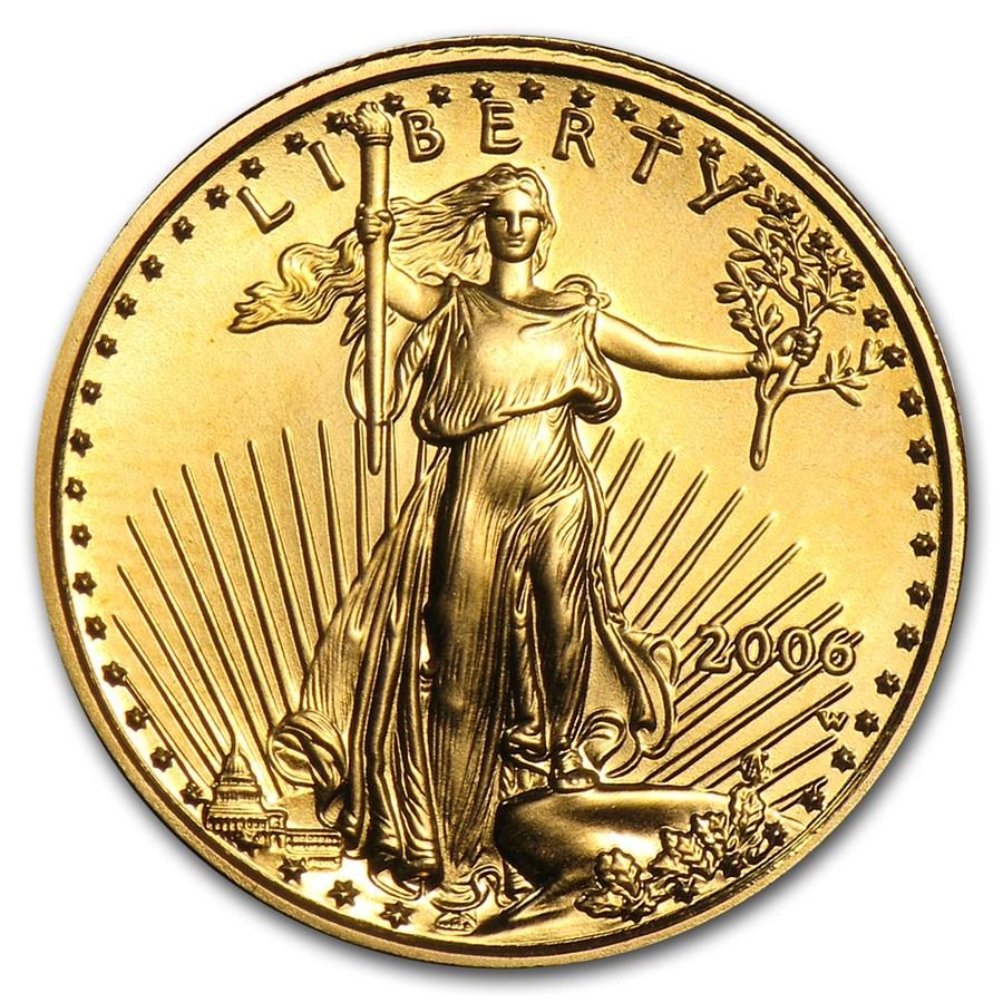 2006-W 1/10 oz Burnished Gold American Eagle