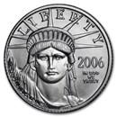 2006-W 1/10 oz Burnished Platinum American Eagle (w/Box & COA)