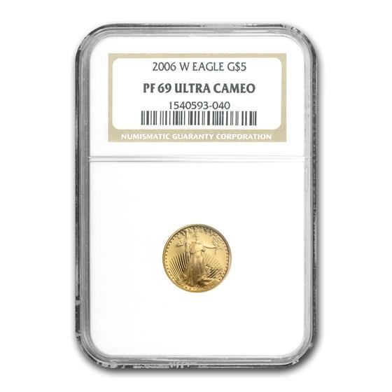 2006-W 1/10 oz Proof American Gold Eagle PF-69 UCAM NGC