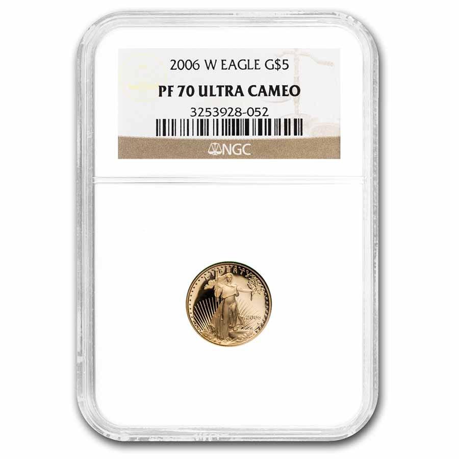 2006-W 1/10 oz Proof American Gold Eagle PF-70 UCAM NGC